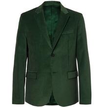 JOSEPH | Davide Forest-green Cotton-corduroy Blazer | Clouty