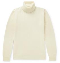 De Bonne Facture   Wool-pique Rollneck Sweater   Clouty