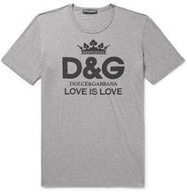 Dolce & Gabbana | Logo-print Cotton-jersey T-shirt | Clouty