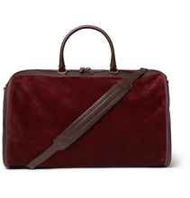 Brunello Cucinelli   Leather-trimmed Suede Holdall   Clouty