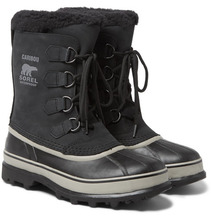 Sorel | Caribou Faux Shearling-trimmed Waterproof Nubuck And Rubber Snow Boots | Clouty