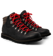 Sorel   Madson Hiker Waterproof Leather And Rubber-trimmed Nubuck Boots   Clouty