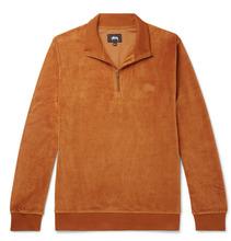 Stussy | Cotton-blend Velour Half-zip Sweatshirt | Clouty