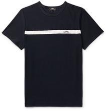 A.P.C.   Yukata Loopback-panelled Cotton-jersey T-shirt   Clouty