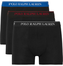 POLO RALPH LAUREN | Three-pack Stretch-cotton Jersey Boxer Briefs | Clouty