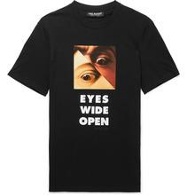 Neil Barrett   Printed Stretch-cotton Jersey T-shirt   Clouty