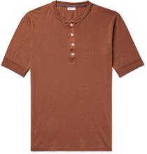 Schiesser | Karl Heinz Slim-fit Cotton-jersey Henley T-shirt | Clouty