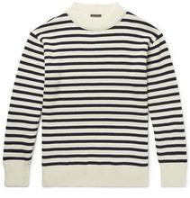 Bellerose | Zwart Striped Wool Sweater | Clouty