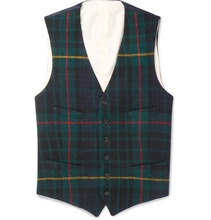POLO RALPH LAUREN | Slim-fit Checked Wool Waistcoat | Clouty