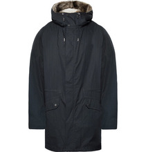 Yves Salomon | Shearling-lined Cotton-blend Hooded Down Parka | Clouty