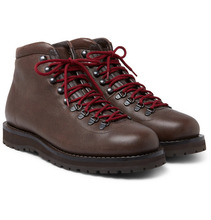 Brunello Cucinelli | Fleece-lined Burnished-leather Boots | Clouty