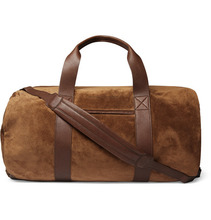 Brunello Cucinelli   Suede And Full-grain Leather Holdall   Clouty