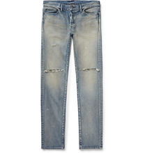 John Elliott | The Cast 2 Skinny-fit Distressed Stretch-denim Jeans | Clouty