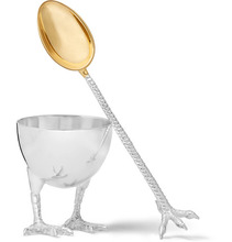 Asprey | Sterling Silver Egg Cup And Spoon Set | Clouty