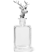 Asprey | Stag Sterling Silver And Crystal Decanter | Clouty