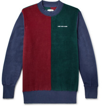 Aimé Leon Dore  | Logo-embroidered Colour-block Fleece Sweatshirt | Clouty