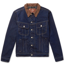 Kingsman   + Jean Shop Tequila's Statesman Slim-fit Blanket-lined Selvedge Denim Jacket   Clouty