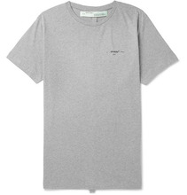 Off-White | Slim-fit Printed Cotton-jersey T-shirt | Clouty