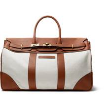 Brunello Cucinelli | Canvas And Full-grain Leather Holdall | Clouty