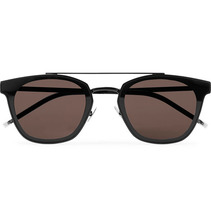 SAINT LAURENT | Aviator-style Black Metal Sunglasses | Clouty