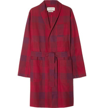 Oliver Spencer | Checked Cotton Robe | Clouty