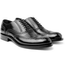 O'Keeffe | Algy Polished-leather Wingtip Brogues | Clouty