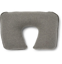 Loro Piana | Suede-trimmed Cashmere-blend Travel Pillow | Clouty