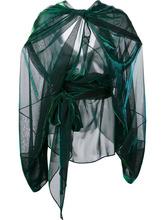 Maison Margiela   прозрачная блузка с эффектом драпировки   Clouty