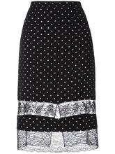 GIVENCHY | юбка с кружевными вставками Givenchy | Clouty