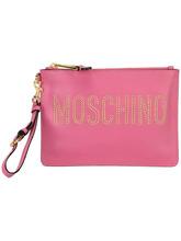 MOSCHINO | клатч с логотипом и заклепками Moschino | Clouty