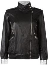 SAINT LAURENT   куртка на смещенной молнии Saint Laurent   Clouty