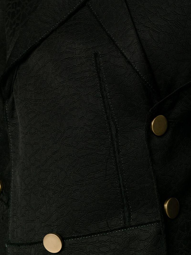 Proenza Schouler   Чёрный жакет свободного кроя с необработанными краями Proenza Schouler   Clouty