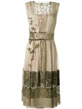 Alberta Ferretti | многослойное платье с цветочной вышивкой Alberta Ferretti | Clouty