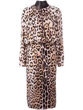 Tom Ford | платье с длинными рукавами и леопардовым принтом Tom Ford | Clouty