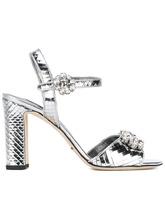Dolce & Gabbana   босоножки с зеркальным эффектом и стразами Dolce & Gabbana   Clouty