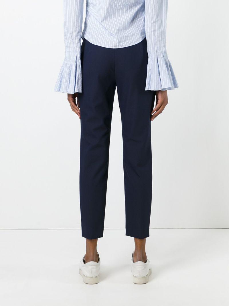 Theory | Синий расклешенные укороченные брюки  Theory | Clouty