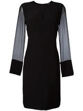 GIVENCHY   платье шифт с прозрачными рукавами Givenchy   Clouty