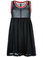 GIVENCHY | сетчатое платье с полосатой окантовкой | Clouty
