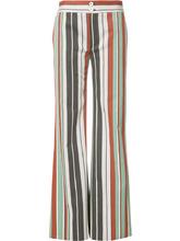 Chloé | расклешенные полосатые брюки Chloe | Clouty