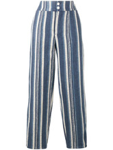 Chloé   полосатые парусиновые брюки Chloe   Clouty