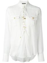 BALMAIN | рубашка со шнуровкой Balmain | Clouty