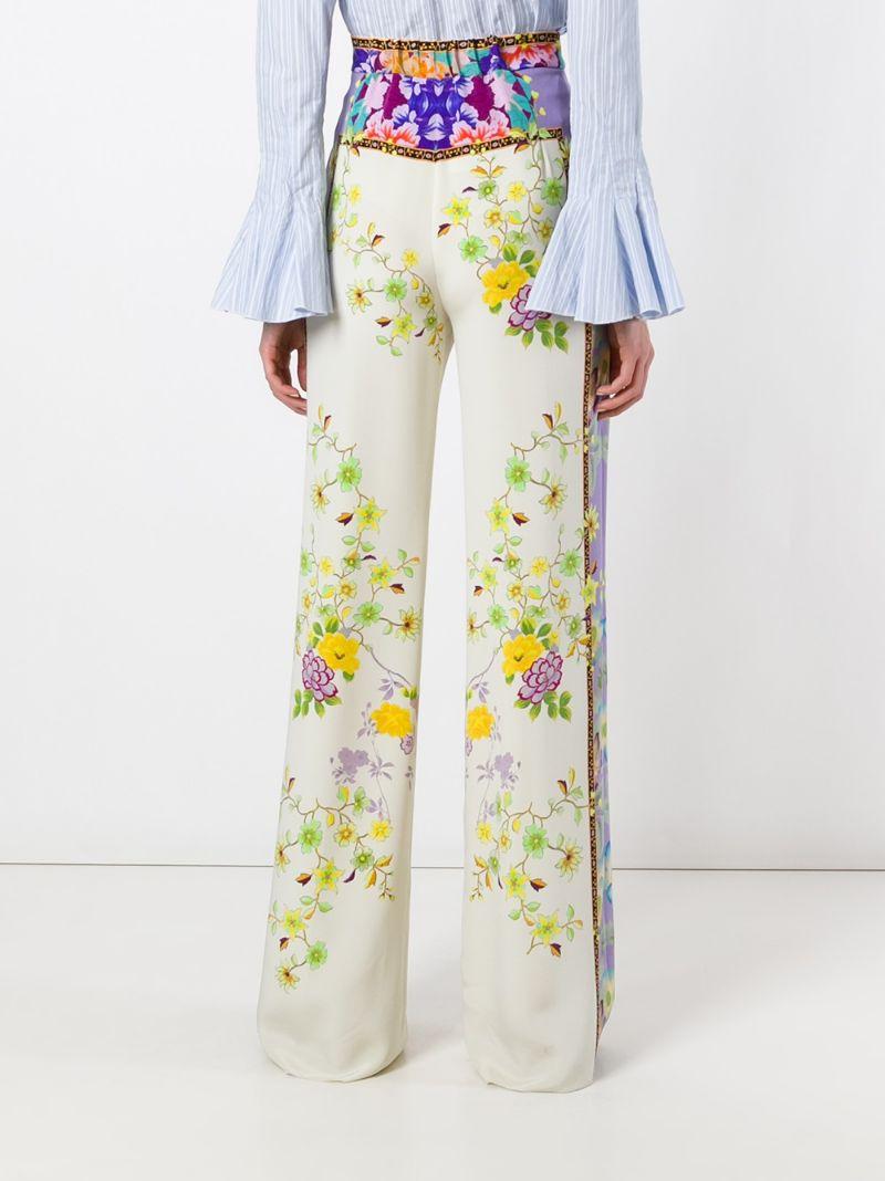 Etro | Многоцветный брюки с цветочным принтом   Etro | Clouty