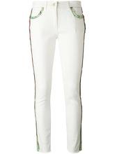 Etro | укороченные джинсы с лампасами Etro | Clouty