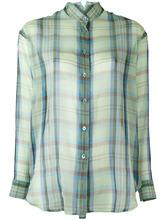 Etro | прозрачная рубашка в клетку Etro | Clouty