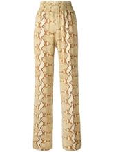 GIVENCHY   брюки с узором змеиной кожи Givenchy   Clouty