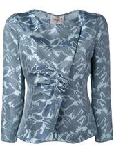 Armani Collezioni | блейзер со сборками и вышивкой Armani Collezioni | Clouty