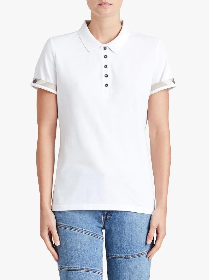 314115f1b101 ... BURBERRY   Белый классическая футболка-поло Burberry   Clouty ...