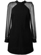 SAINT LAURENT   платье с прозрачными рукавами Saint Laurent   Clouty