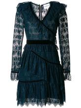 Perseverance London | кружевное платье с бархатной отделкой и оборкой  Perseverance London | Clouty