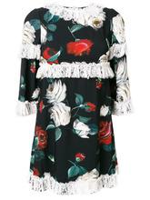 Dolce & Gabbana   платье с оборкой и цветочным принтом  Dolce & Gabbana   Clouty